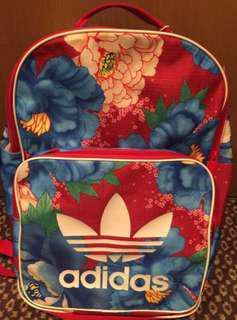 愛迪達背包 櫻花圖案 背包