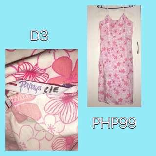 Papaya Pink Floral Dress