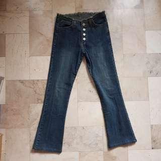 Low-waist denim jeans