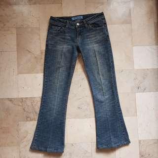 Bootleg denim jeans
