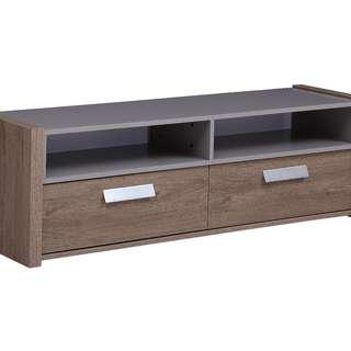 CONTEMPORARY TV STAND WITH 2 DRAWERS