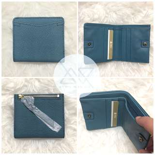Fossil Coraline RFID Mini Wallet Faded Indigo