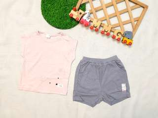 🚚 現貨💡韓國KC認證童裝×粉熊套裝