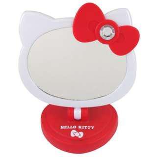 🚚 (含運出清)🔥Hello Kitty超可愛造型LED觸控桌鏡/化妝鏡 紅色