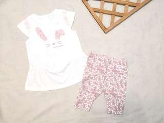 🚚 現貨💡韓國KC認證童裝×可愛白兔套裝
