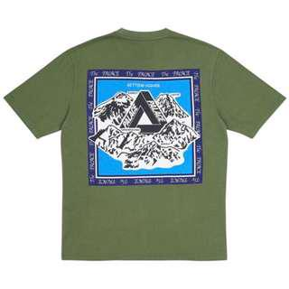 Palace Getting Higher Army Green Tee / T Shirt