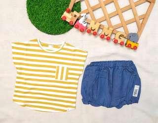 🚚 現貨💡韓國KC認證童裝×條紋套裝