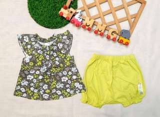 🚚 現貨💡韓國KC認證童裝×綠碎花套裝