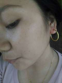 2.1 loop 18k saudi gold earrings