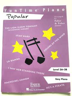 Piano book- Funtime Popular