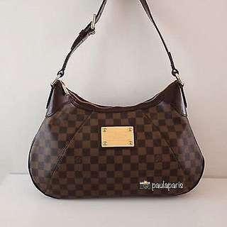 Louis Vuitton Authentic Damier Ebene Thames GM Bag Purse