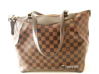 Louis Vuitton Authentic Westminister GM Damier Ebene Tote Bag