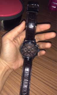 GUESS BROWN LEATHER WATCHES