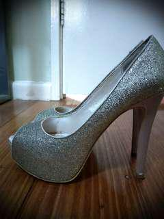 Betts Champagne Open Toe Heels