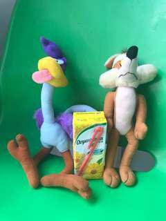 Wile E. Coyote and the Road Runner soft toys