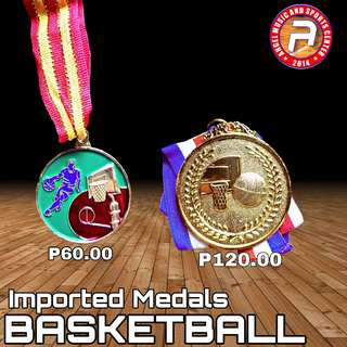 Imported Medals for Basketball