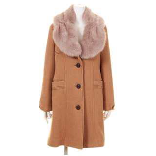 Lily Brown 豐厚毛領羊毛長大衣
