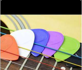 Colourful Guitar Picks