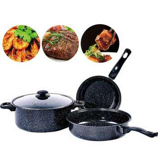 NON STICK COOKWARE AND POT  (4 PCS SET)