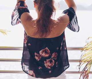 SM floral off shoulder Girls Teen's Wear - Medium
