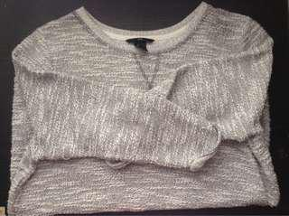 H&M Knitted Pullover Gray