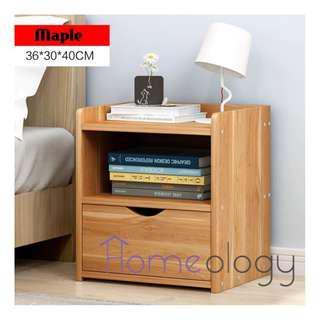 3 Colors! Bedside Table Space Saving Cabinet Study Desk