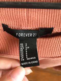 Forever 21 pastel pink sweater