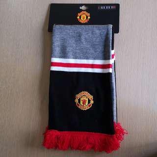🚚 全新 曼聯官方球迷頸圍巾 Manchester United fans scarf official black