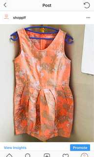 Gingersnaps Orange with metallic accent Dress
