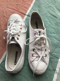 Converse white / rose gold full shoe