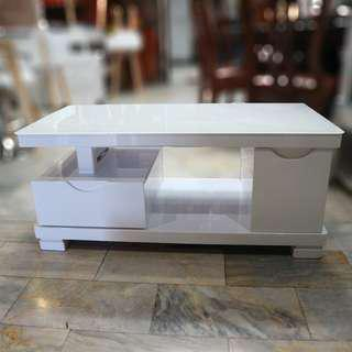 Living room Glossy white center coffee table for