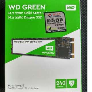 WD M2 SSD 240GB 固態硬碟 (全新)