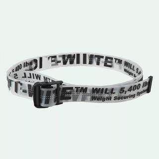 Off white belt - clear black