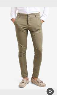 Topman Slim Fit Khaki Pants