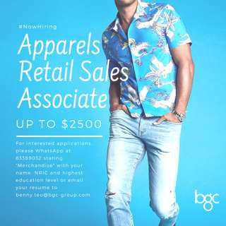 Apparels Retail Sales Associate