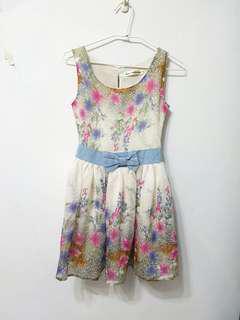 🚚 [售/換] 小花無袖甜美洋裝