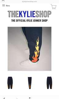 Kylie Jenner Flame Pants