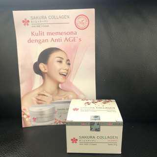 Sakura Collagen Anti AGE's cream 10g