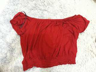 Hnm red offshoulder