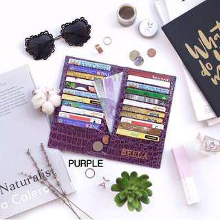 Croco book card holder large