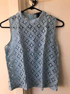 Forever 21 Blue Lace Top