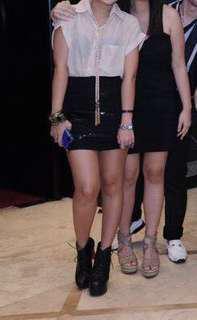 Forever 21 Black Sequined Bandage Skirt - S