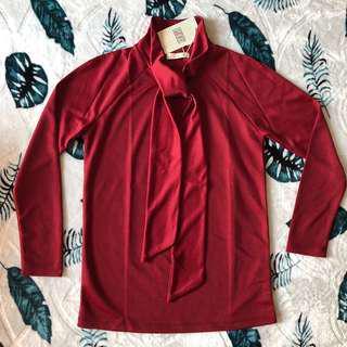 Maroon blouse new