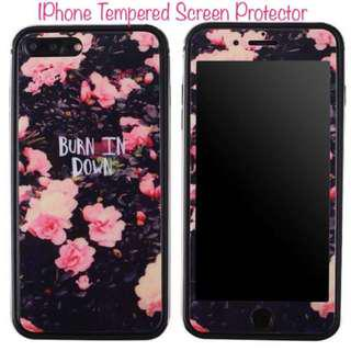 IPhone 7 Floral Screen Proctector