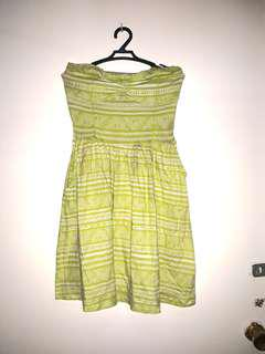 Yellow green tube dress