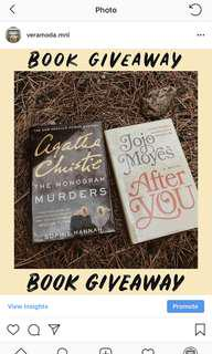 After You Jojo & Agatha Christie BOOK GIVEAWAY