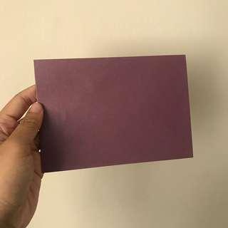 Purple shimmer envelope