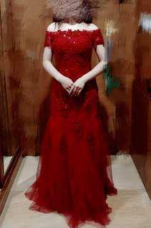 Wedding dress 敬酒紅色晚裝裙