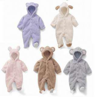 Cotton Baby Romper Long Sleeve Hooded Infant Jumpsuit