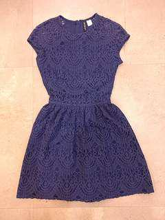 REPOST BLUE H&M LACE DRESS